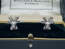 Holland and Holland Cufflinks Silver 925 Shooting/Hunting Stags.