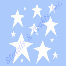 "PRIMITIVE STARS STENCIL STAR CELESTIAL STENCILS TEMPLATE PAINT ART NEW 6"" X 5"""
