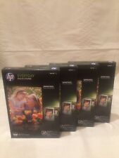 4 Packs HP Everyday Glossy Photo Inkjet Paper 4 x 6- 50 sheet per pack CR758A
