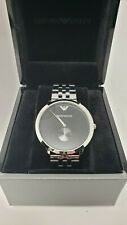 Emporio Armani New BLACK DIAL MEN'S WATCH Stainless steel band AR11161
