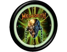 MEGADETH Neon Wall Clock Orologio OFFICIAL MERCHANDISE