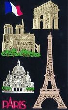 ~ Paris Arc of Triumph Eiffel Tower Notre Dame de Travel Grossman Sticker SALE ~