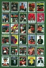 Muhammad ali 30 trading card set couvertures de magazines