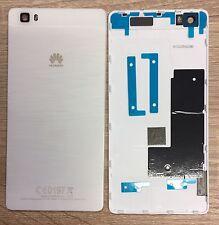 Original Huawei P8 Blanco Plata Tapa Batería CONTRAPORTADA Cubierta de la