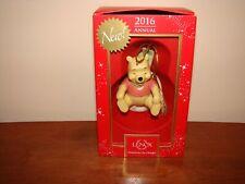 2016 Disney Lenox Christmas Ornament Sledding With Winnie The Pooh - New