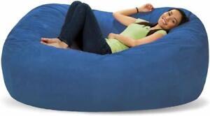 Bean bag Cover 6' Chair Bean bag Sofa without Bean Blue for luxuries Decor gift