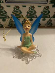 Tinkerbell With Blue Winged Disney Grolier Christmas Magic Ornament
