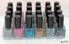 LOT of SIX Nail polish GLITTER NEW Christmas YESENSY N53
