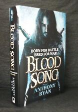 BLOOD SONG Anthony Ryan SIGNED LIMITED NUMBERED UK 1st ED HB/DJ Ravens Shadow 1