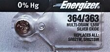 ENERGIZER 364/363 SR621W SR621SW BATTERIES Sealed Authorized Seller