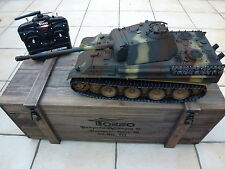 Torro 1/16 RC German Panther Ausf G BB Tank Camo 2.4GHz Metal 360 Wooden Box
