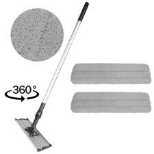 "18"" Microfiber Mop Kit  2 Microfiber Mop Pads   Flat Frame   Mop Handle Cleaning"