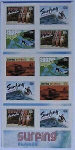 AUSTRALIA #3865b: VF MNH  'Surfing Australia' - Die Cut Booklet Pane of 10