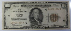1929 One Hundred Dollar National Bank Note (#421c)