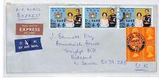 AN262 1975 HONG KONG Express Commercial Airmail Cover GB Devon