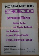 BRIGITTE BARDOT - CLAUDIA CARDINALE - LES PETROLEUSES * RARE EAST GERMAN POSTER