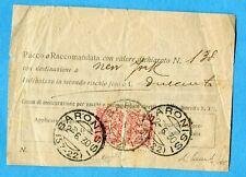 1930 FRANCOBOLLI ASSICURATIVI £.3 (Sass.6) COPPIA USATI con CERTIFICATO (276869)