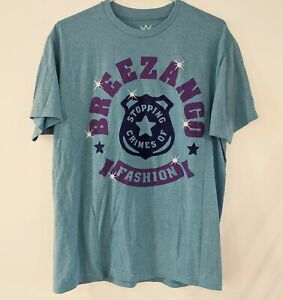 BREEZANGO Fashion Police WWE NXT Wrestling T-Shirt Fandango/Tyler Breeze Size L