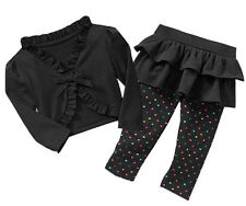 2-Pc Toddler Ruffle Shrug and Skirted Leggings 2T