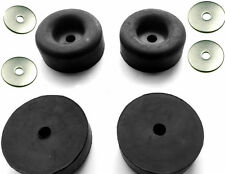 "4 Large Black Rubber Feet Bumper for Generators Washers Compressors 2.5"" * 1"""