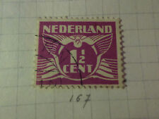PAYS-BAS - 1926-28, timbre CLASSIQUE 167, type n, oblitéré, VF used STAMP