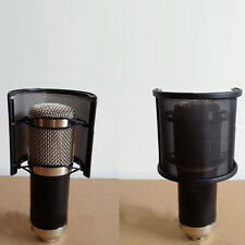 New Dual Layer Recording Microphone Mic Windscreen Pop Filter Mask Shield Black