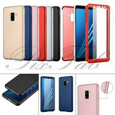 3 in 1 Glass Front Back Full Body Drop Protection Shockproof PC Phone Case Cover
