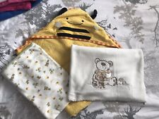 Baby Hooded Towel (large) And Blankets