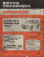 RTA revue technique automobile N° 499 AUSTIN MG VANDEN PLAS METRO