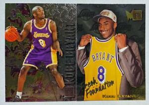 (2) Kobe Bryant 1996-97 Fleer Metal Rookie RC Fresh Foundations Lot LAKERS HOF