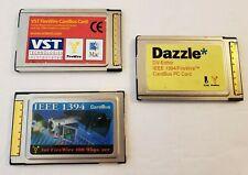 3x Dazzle Vst Dv-Editor Ieee 1394 FireWire CardBus Mac Apple Card Cb1394T-N-Bc