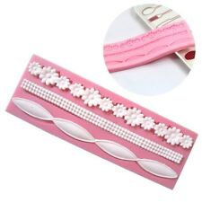 Lace Silicone Mold Mould Sugar Craft Fondant Mat Decorating Baking Tool Pink