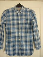 JACK WILLS BLUE, NAVY, IVORY CHECKED L/S SHIRT. UK 8, EUR 36, US 4. IMMACULATE