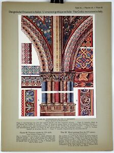 MURAL PAINTINGS 13th Century 1914 Historical Ornament Print Middle Ages Print