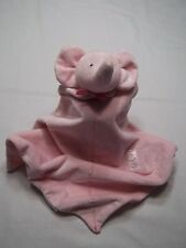 Carters Precious Firsts Pink Elephant Lovey Soft Security Blanket Rattle 13x13""
