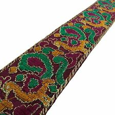 Embroidered Trim Craft 5.08 Cm Fabric Dupion Silk Sewing Material By 1 Yard