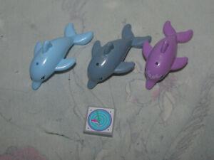 LEGO Friends Set of 3 Dolphins - Purple, Blue, Grey
