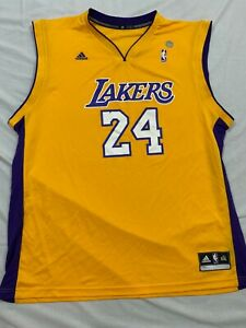 M5 RARE FLAWED ADIDAS Los Angeles Lakers Kobe Bryant Blank Jersey Men's 2XL
