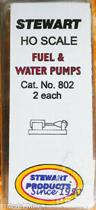 Stewart HO Scale #802 Fuel & Water Pumps (White Metal Casting)