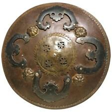 Ottoman Moorish Mughal Steel and Brass Miniature Battle Shield