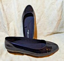 👠 White Stag Comfort First Sleek Ballet Flats size 8 M Black Patent Leatherette