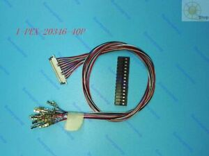full wire LCD LVDS cable 40 PIN I-PEX 20346 20347 40P for LCD controller board