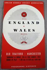 English Schools V Welsh Schools 1951 Old Trafford Programme
