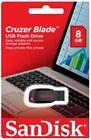 SanDisk 16GB 32GB 64GB 128GB Cruzer Blade USB 2.0 Flash Memory Stick Pen Drive