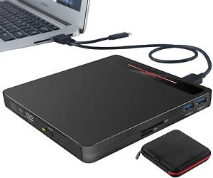 External CD DVD Drive,USB 3.0 Portable CD DVD+/-RW Disk Burner Player Rewriter