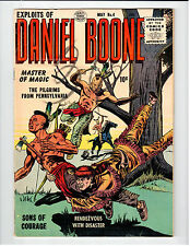 Quality Comics EXPLOITS OF DANIEL BOONE issue #4 May 1956 vintage comic VG