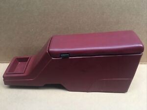 88-94 Chevy S10 S15 Blazer Jimmy Console Cup Holder Red W/ Arm Rest