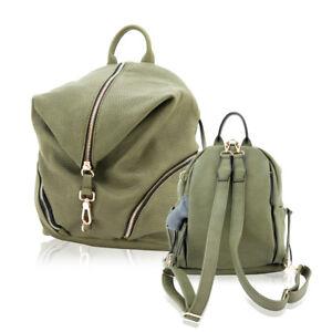 Cameleon Concealed Gun Carry Backpack Leather Concealment Aurora Olive Bag