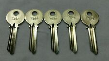 NEW Qty: 5 YALE RN11 6-PIN KEY Blanks, E1R (PARA) Key Section, SOLID BRASS