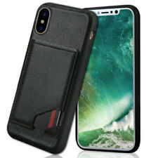 COVER CUSTODIA per iPhone X in PELLE e Tpu Rigida Porta carte Slim Protezione